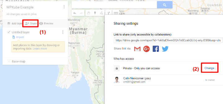 how to embed google my maps