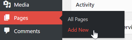 Create a New Page in WordPress